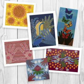 Set of 6 Blank Cards: Bright
